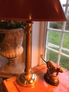 Klassisk mässingslampa