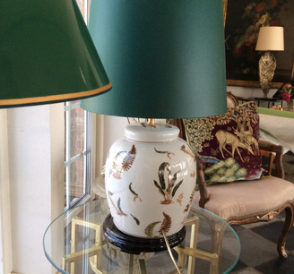 Stensöta bordslampa