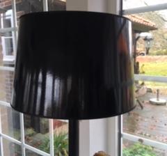 Svart rund lampskärm