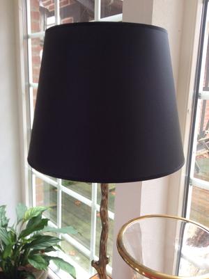 Svart lampskärm