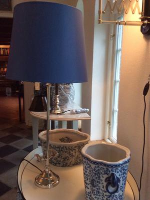 Blå lampskärm