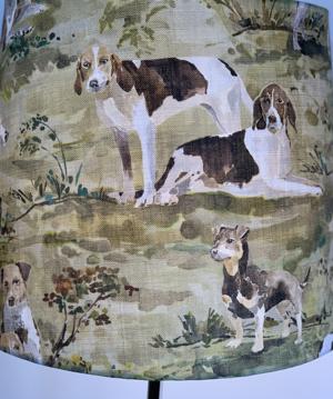 Lampskärm med hundar