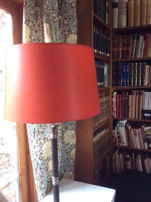 Orange/röd Lampskärm