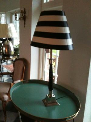 Randig lampskärm