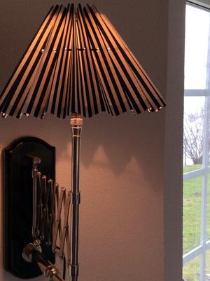 Veckad lampskärm