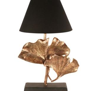 Bordslampa i guldmetall