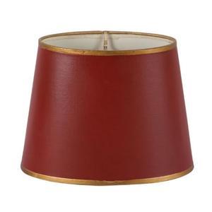 Röd lampskärm