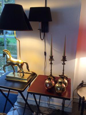 Hästlampa i mässing